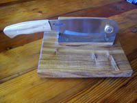 Hand made biltong cutter/carver. High quality tool steel biltong cutter blade